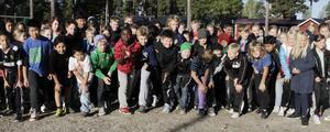 Klass 4-6 på Gärdeåsskolan redo för start.