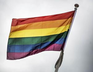 Prideflaggan.