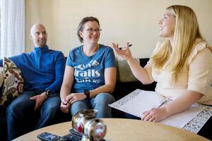 Hanna Nyman tillsammans med Andreas och Cecilia.