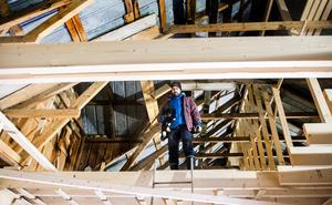 På övervåningen kommer familjernas sovrum att vara samt ett större badrum med plats för badkar.