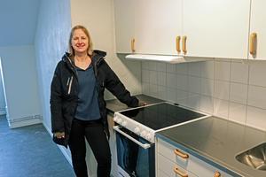 Ann-Katrin Olsson visar spisen som ännu inte kommit till användning.
