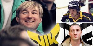 En rysstrio som blev älskad under sin tid i Västerås. Från vänster: Alexei Salomatin, Mishat Fakhrutdinov och Sergej Fokin. Foto: Bildbyrån.