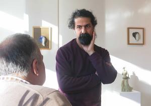 Gävles fristadskonstnär Seywan Saedian har många planer på hur han ska utnyttja sin tid som gäst i Gävle.