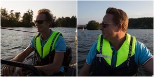 Två av de ansvariga seglarinstruktörerna, Fredrik Hedin och Jan-Erik Sandh.