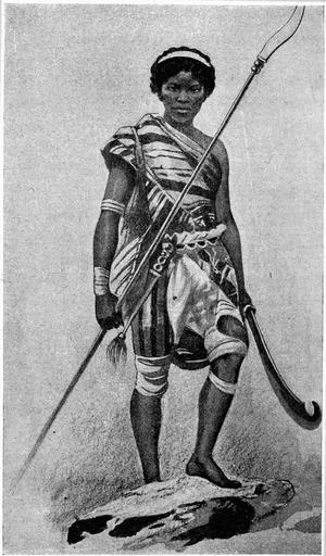 En dahomeysk amason. Illustration ur den franske geografen Elisée Reclus verk