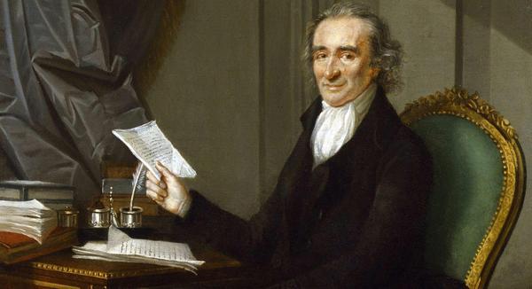 Grundlagsfadern Thomas Paine 1791. Målning avLaurent Dabos.