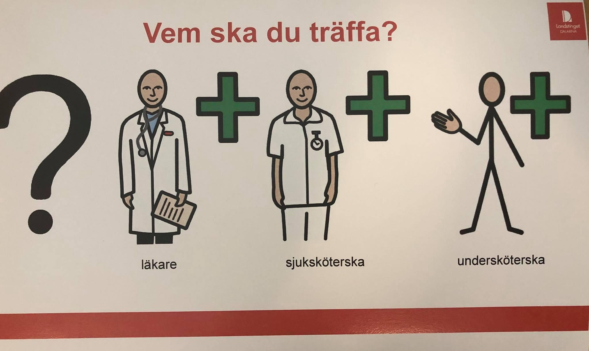 Tecknad sjuk sköterska kön