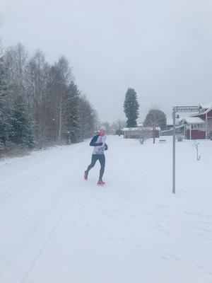 Edward Larsson var en av ett fåtal som gjorde itt lopp på originalbanan i Östnor. Foto: KEA