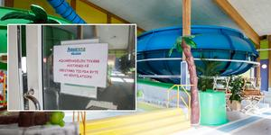 Aquarena, med den blå och gröna rutschkanan samt barnlagunen, är stängd tills vidare.