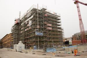 Framåt årsskiftet ska bygget vid Muréngatan i Gävle vara klart, om planerna håller.