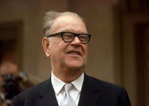 Tage Erlander, politiker (S), statsminister 1946-69. De grundpelare som byggde hans