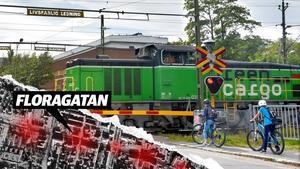 20 olyckstillbud har skett vid järnvägsövergångarna i Sundsvall – fyra av dem på Floragatan. Grafik: Robin Brinck