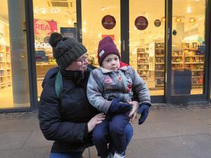 Ann Bråtenholme med William Björkman, 4 var ute på mellndagsrean.