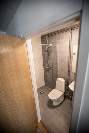 Toalett och dusch är standard.