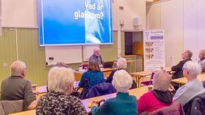 Lennart Berggren berättade om sina erfarenheter av glaukom. Foto: Lars Göran Andersson