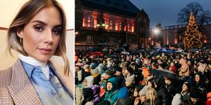 Maja Nilsson Lindelöf, Stora torget Västerås. Bild: @majanilssonlindelof, Instagram. Bild höger: Martin Bohm
