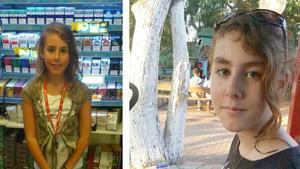 På bilden till vänster är Nathalie tio år. Till höger är bilden som någon lagt in anonymt på Facebook. Nathalie har hunnit bli 14 år.