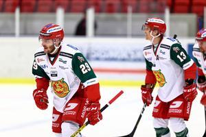 Johan Persson spelade fram Emil Bejmo, som kunde sätta 2–1 till Mora i den andra perioden. Foto: Andreas L Eriksson / Bildbyrån