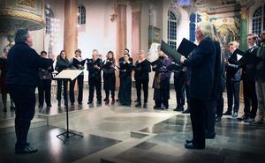 Domkyrkokören under ledning av Lars G Fredriksson.