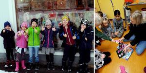 Fränstaskolans F-2-elever har med sitt initiativ trolgtvis bidragit till en vitare jul för flera barnfamiljer i Ånge kommun. Bild: Maria Göransson