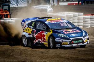 Oliver Eriksson vann tidigare i år VM i rallycross. Fotograf: Pressbild.