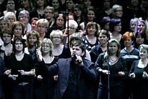 Pelle Anckarberg från Örebro, en av solisterna i Gävle Gospel.