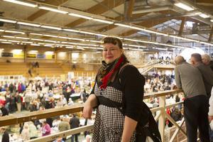 Emma Fagerström går ofta på samlarmässor.