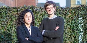 Aida Badeli och David Ling valdes nyligen till språkrör för Grön ungdom. David är född och uppvuxen i Söderhamn. Foto: Pressbild
