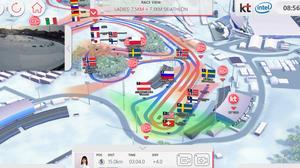 Så här kunde det se ut i appen i samband med OS-spelen i vintras.