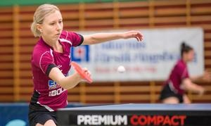Sofia Westholm är inne på sin sjunde säsong i IK Juno och 20:e totalt i Elitserien/Pingisligan. Foto: Privat