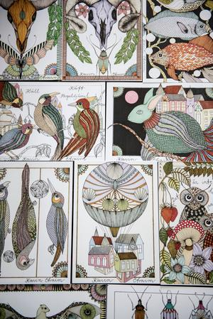 Djurmotiv är återkommande bland Karins illustrationer.