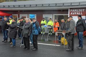 Hundratalet Husumbor fanns på plats när den nya återvinningscentralen invigdes i Dombäck.