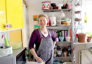Susann stortrivs i huset som hon renoverar långsamt.