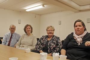 Karl-Gustav Helmersson, Mayli Ekberg,  Rosina Andersson och Ulla Harju tycker att Stenkumlaskolan ska renoveras och öppnas igen.