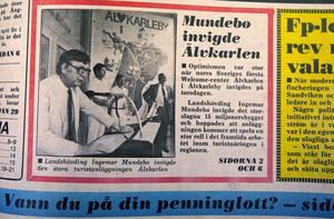 Landshövdningen Ingemar Mundebo invigde Älvkarlen.
