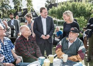 Statsminister Stefan Löfven och finansminister Magdalena Andersson på besök hos PRO.