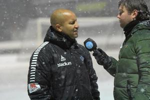 Klebér Saarenpää intervjuades i Sportens sändning från Brages fredagsträning.