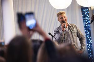 Gottfrid Krantz intervjuades på scenen.