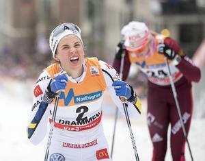 Anna Dyvik har ett bra läge inför den avslutande etappen i Faluns finaltour.Foto: Terje Pedersen/TT