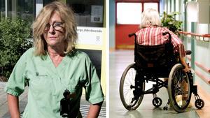 Agnetha Öhrn på Hälleborgs äldreboende startade en namninsamling i protest mot personalneddragningarna.