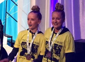 Tintin Uvhage och Wirva Hörnqvist blev femma hiphop duo i junior-SM.