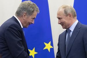 President Sauli Niinistös senaste möte med president Putin skedde i Sotji i augusti i år.