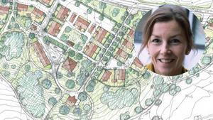 Fram till den 19 januari finns chans att lämna synpunkter på förslaget gällande Hökmossbadet. Centerns Kristina Svinhufvud är kritisk. Hon tycker att det behövs mer tid. Illustration: Kjell Forshed / Foto: privat