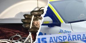 Stöldgods som påträffats i ett hus utanför Söderbärke har kopplingar till stölder och inbrott även i Gävleborgs län.