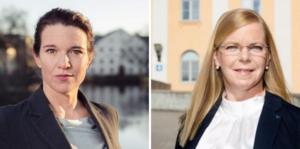 Foto: Pressbild/arkivbild. Lina Nordquist (L), riksdagsledamot och Helena Hagberg (L), regionråd.