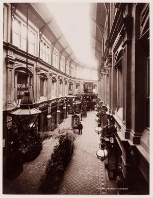 The Royal Arcade, en av de viktorianska jättegallerior som byggdes i Sydney under 1800-talet. Bilden är från 1892. Foto: State Library of New South Wales