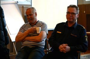 Arne Adolfsson, säkerhetschef i Ludvika kommun, och kommunpolisen Lars Karlsson informerade kring demonstrationerna i Ludvika 1 maj.