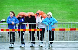 Smarta. Det gäller att komma på bra lösningar för att skydda sig mot regnet.