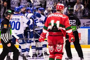 Leksand fick jubla igen. Nu leder LIF matchserien med 2–0 i matcher. Foto: Daniel Eriksson/Bildbyrån.