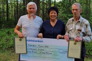 Ronny Nilsson och Rolf Nisbel fick ta emot Lions stipendium 2018 av Vansbro Lions Club president Siv Nonis
